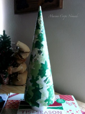 árbol-de-navidad-de-papel-mache