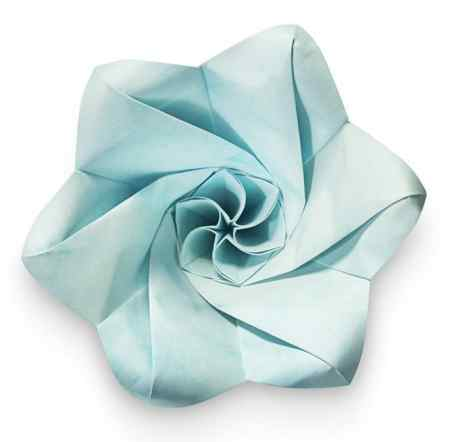 Flor de papel de origami