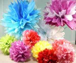 Flores papel crepe divertidas