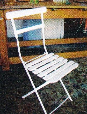 vieja silla de hierro