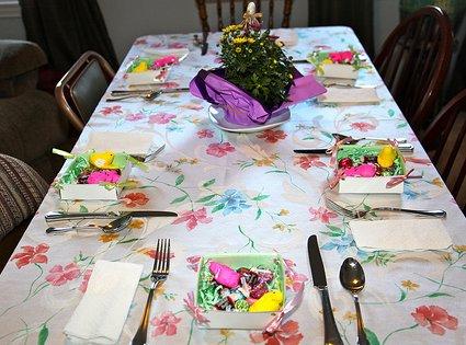Mesas para Pascua