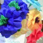 Ramo de flores de papel crepe