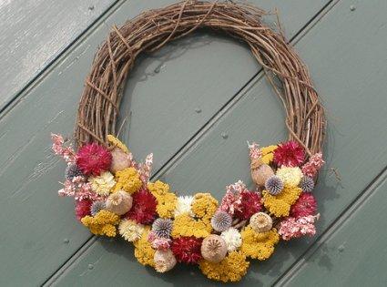 Flores secas en adornos