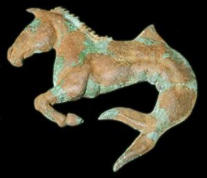 caballo patinado