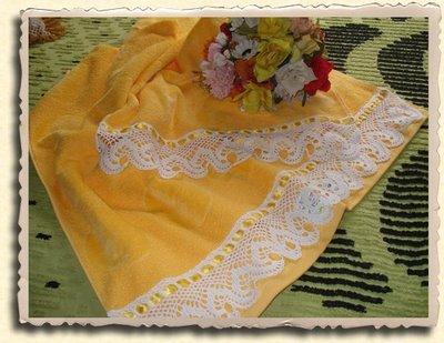 toalla y toallon amarillo